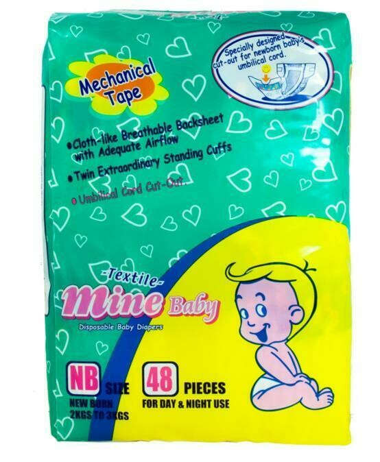 Mines Baby Pampers 60 Pieces (Newborn)