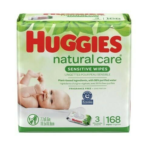 Huggies Sensitive Wipes 168 Pieces