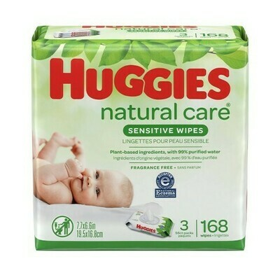 Huggies Sensitive Wipes 168 Pieces