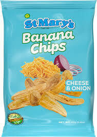 st mary banana chips (cheese & onion)