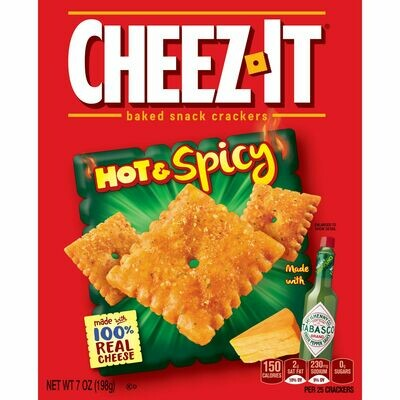 cheez-it crackers (hot & spicy)