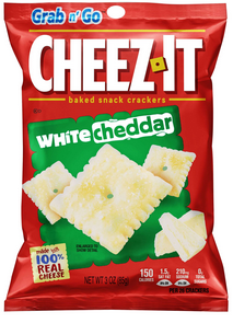 cheez-it crackers (white Cheddar)