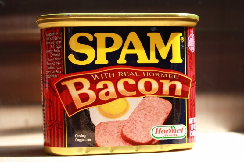 spam bacon meat