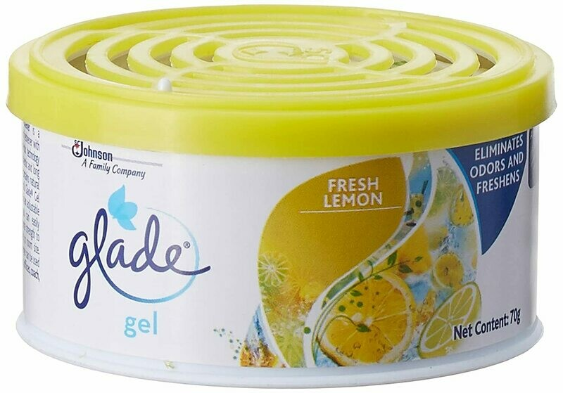 glade air freshener lemon gel 70g