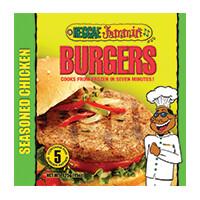 Reggae Jammin Seasoned Chicken Burgers