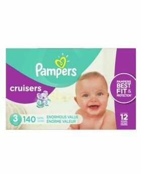 Pampers Cruisers Size 3 Diapers 140 Count