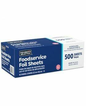 Member selection aluminum foil sheets 500 sheets