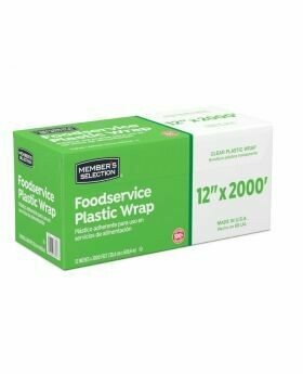 "Member selection food service plastic wrap 12""x 2000'"
