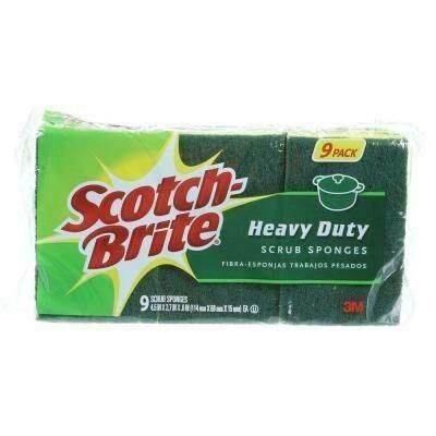 Scotch brite heavy duty scrub 9 pack
