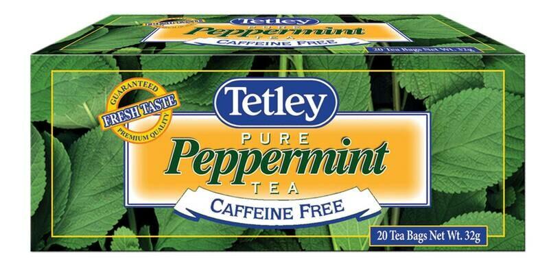 Tetley peppermint tea 6 pack 20
