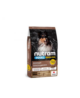 T23 Nutram Total Grain Free Turkey Chicken And Duck Natural Dog Food 11.34kg