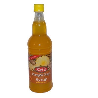 Cals Pineapple Ginger Syrup (1Litre)