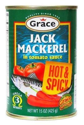 Grace Jack Mackerel Hot & Spicy (425g)