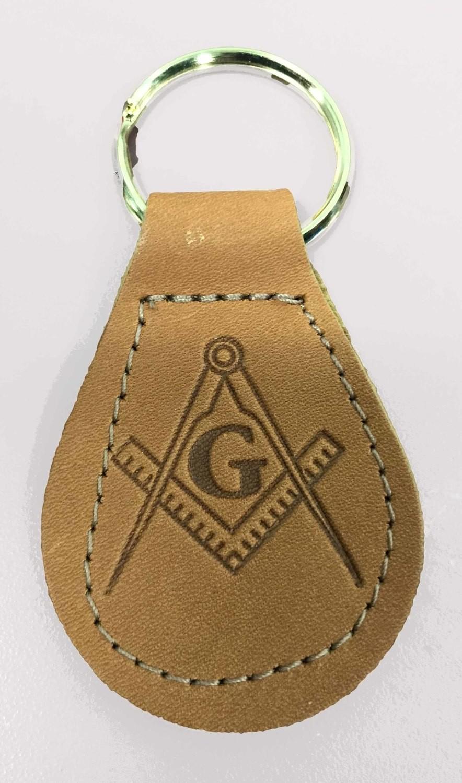 Leather Masonic Key Ring