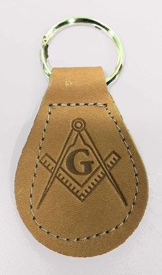 Leather Masonic Key Ring