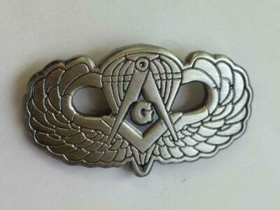 Masonic Jump Wing pin