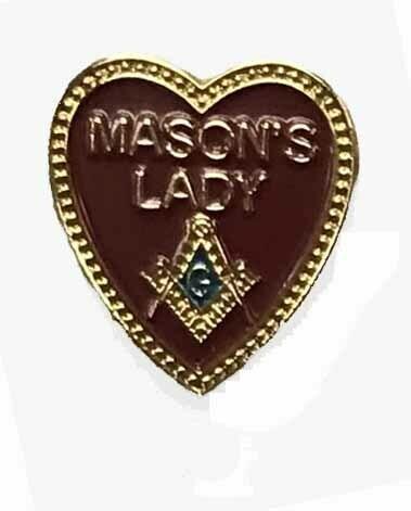Lapel Pin Masonic Lady  3/4