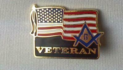 Lapel Pin American Veteran's  3