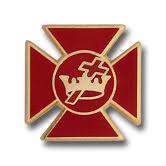 Lapel Pin Red Maltese Cross  13