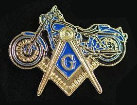 Lapel Pin Masonic Motorcycle  15