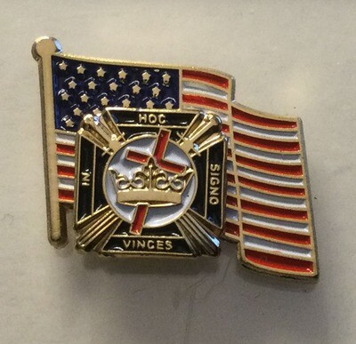 Lapel pin American Flag & Knights Templar 21
