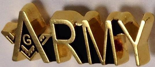 Lapel Pin Army-Masonic
