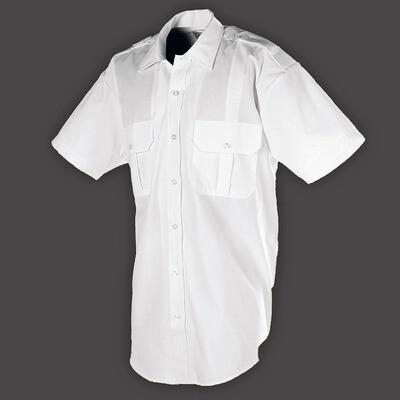 White Short Sleeve Shirt for Summer Uniform