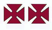 Grand Commandery Officer Shoulder Pins (Pair)