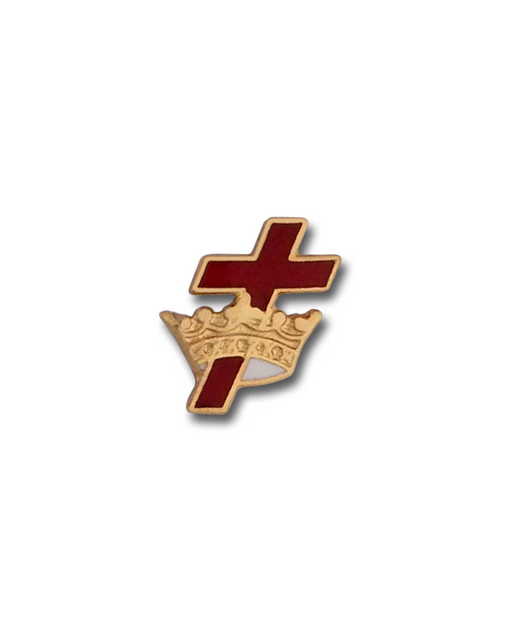 Cross & Crown Lapel pin
