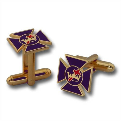 Purple Maltese Cross Cufflinks