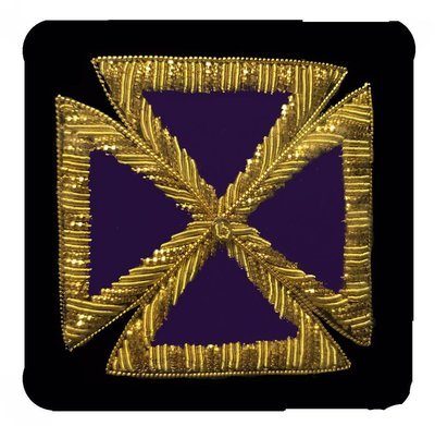 Embroidered Sleeve Rank PGC  (Gold Bullion) pair