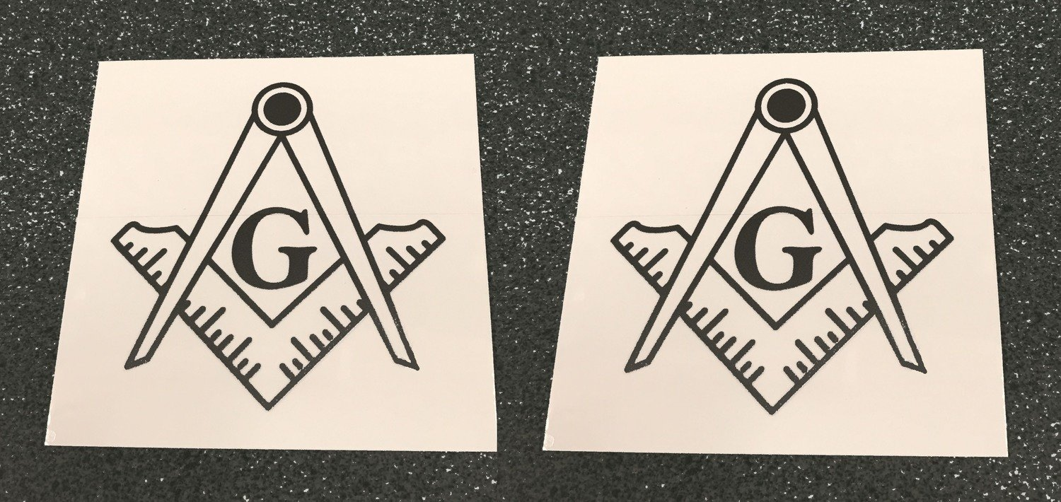 Tail Light Decals Square & Compass (free shipping)