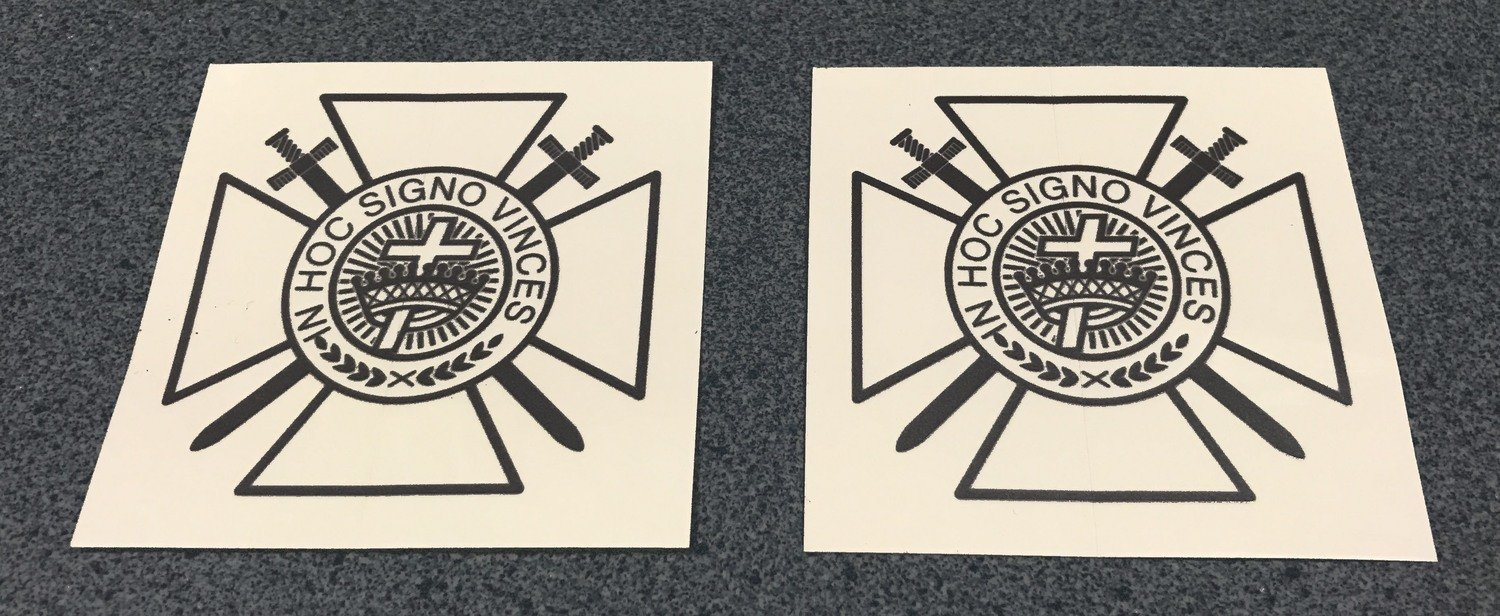 Tail Light Decals Knight Templar  (free shipping)