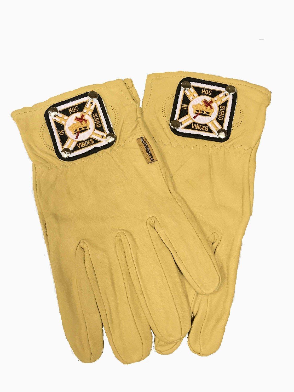 Leather Buff Glove (with Knight Templar emblem)