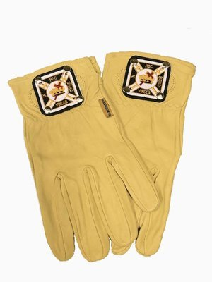 Leather Buff Glove (with Knight Templar emblem)