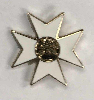 Lapel Pin Maltese Cross 1/2