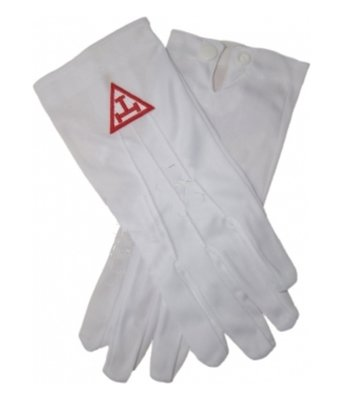 White Chapter Cotton Gloves