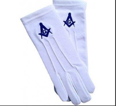 Masonic White Cotton Gloves