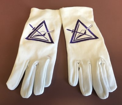 White Council Cotton Gloves