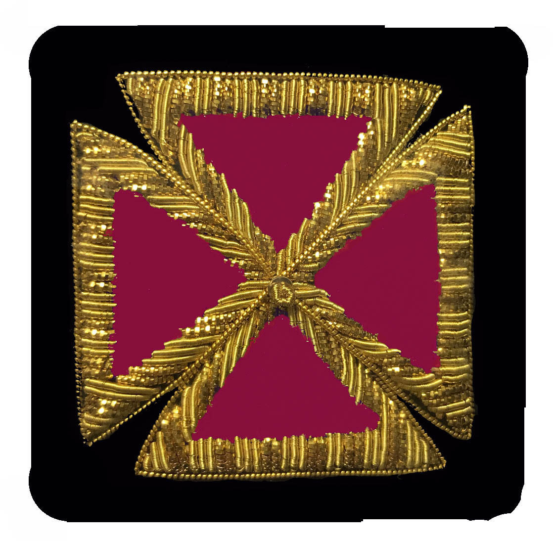 Embroidered Sleeve Rank Grand Officer (Gold Bullion) pair