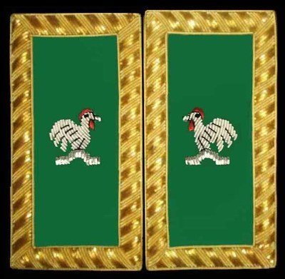 Embroidered Shoulder Rank Capt General  (Gold Bullion) pair