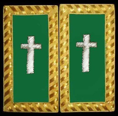 Embroidered Should Rank Eminent Commander (Gold Bullion) pair