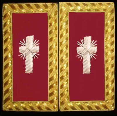 Embroidered Shoulder Rank Past Commander (Gold Bullion) pair