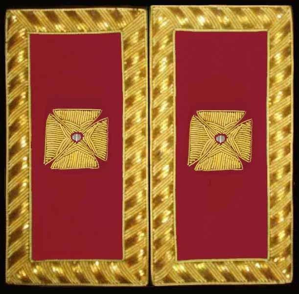 Embroidered Shoulder Rank  Grand Officer (Gold Bullion)
