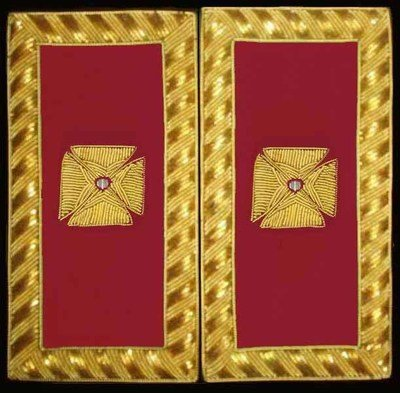 Embroidered Shoulder Rank  Grand Officer (Gold Bullion)
