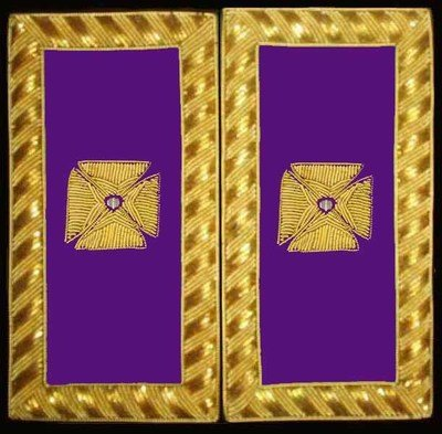 Embroidered Shoulder Rank  PGC (Gold Bullion) pair