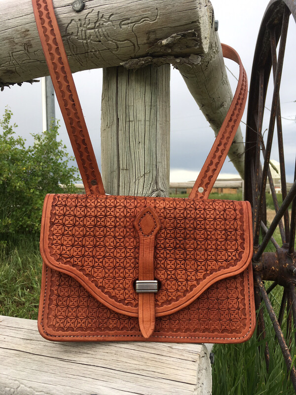Leather Stamped Purse
