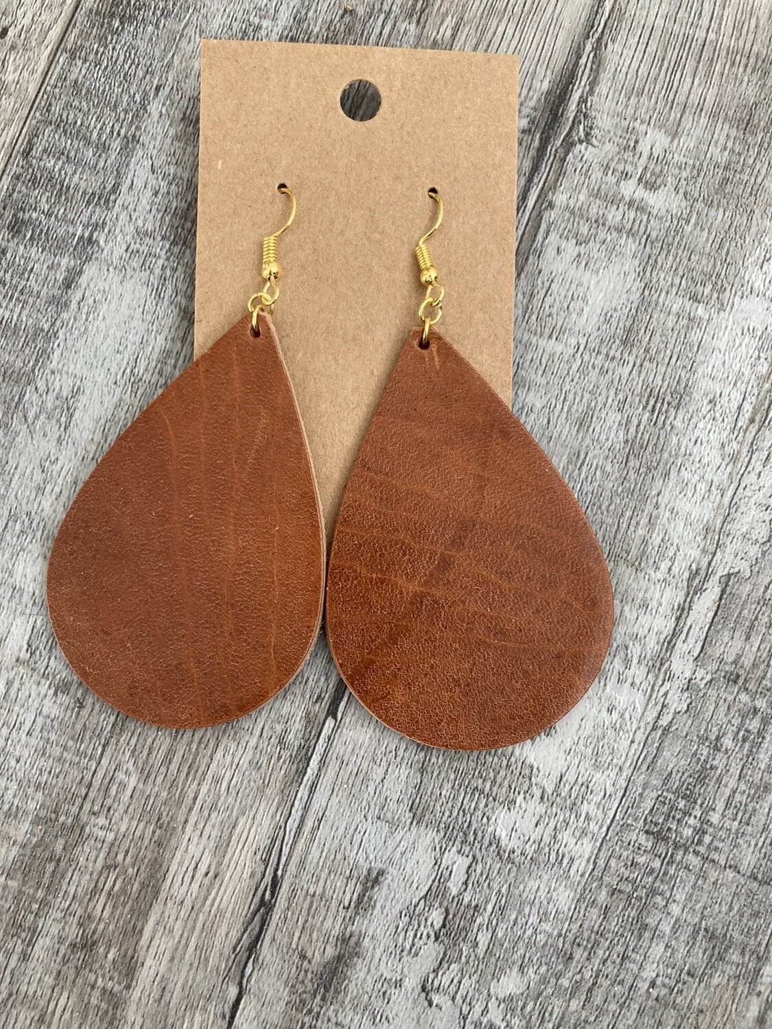 Brown Horse Leather Earring