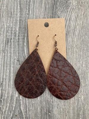 Buffalo Leather Earrings