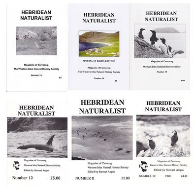 Hebridean Naturalist - Back Issues